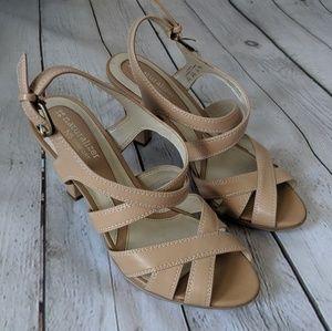 🍍3/$40 Naturalizer Tan Strappy Heels, 7, EUC 👡